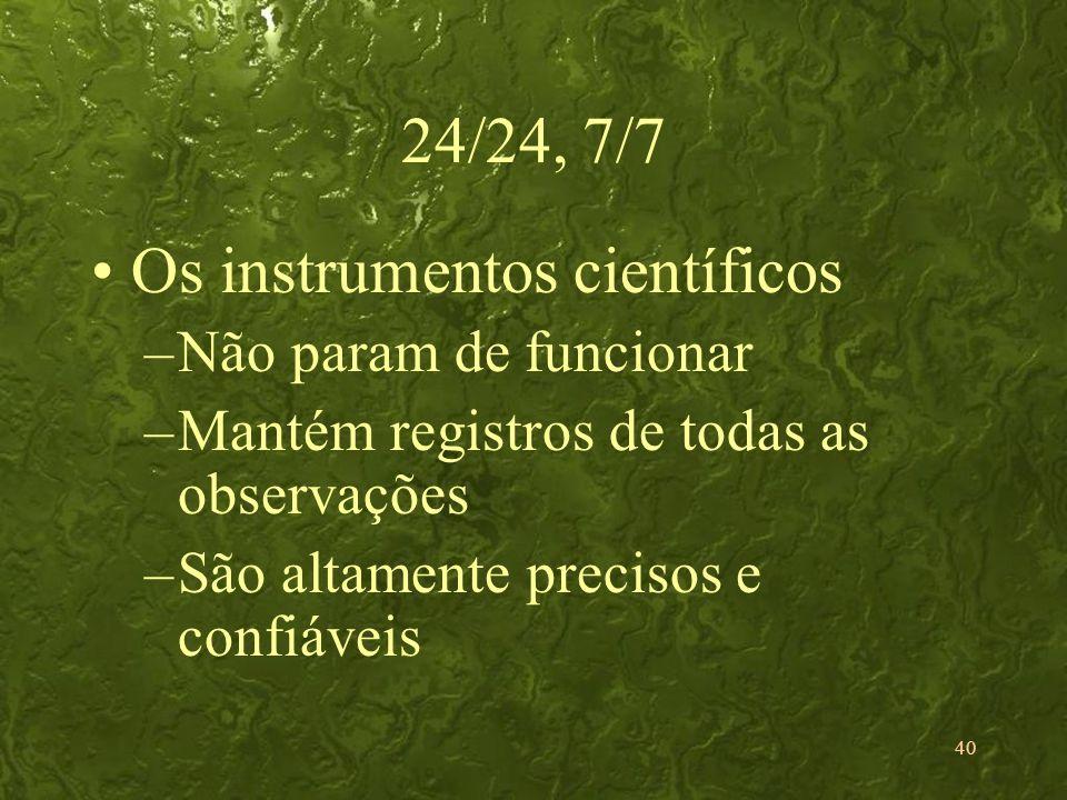 Os instrumentos científicos