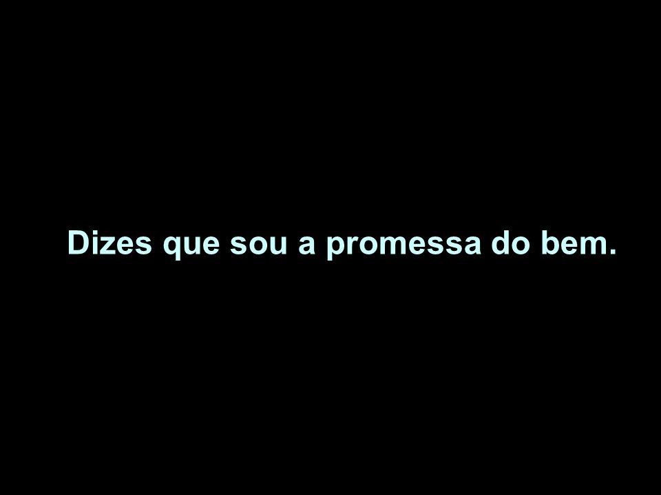 Dizes que sou a promessa do bem.