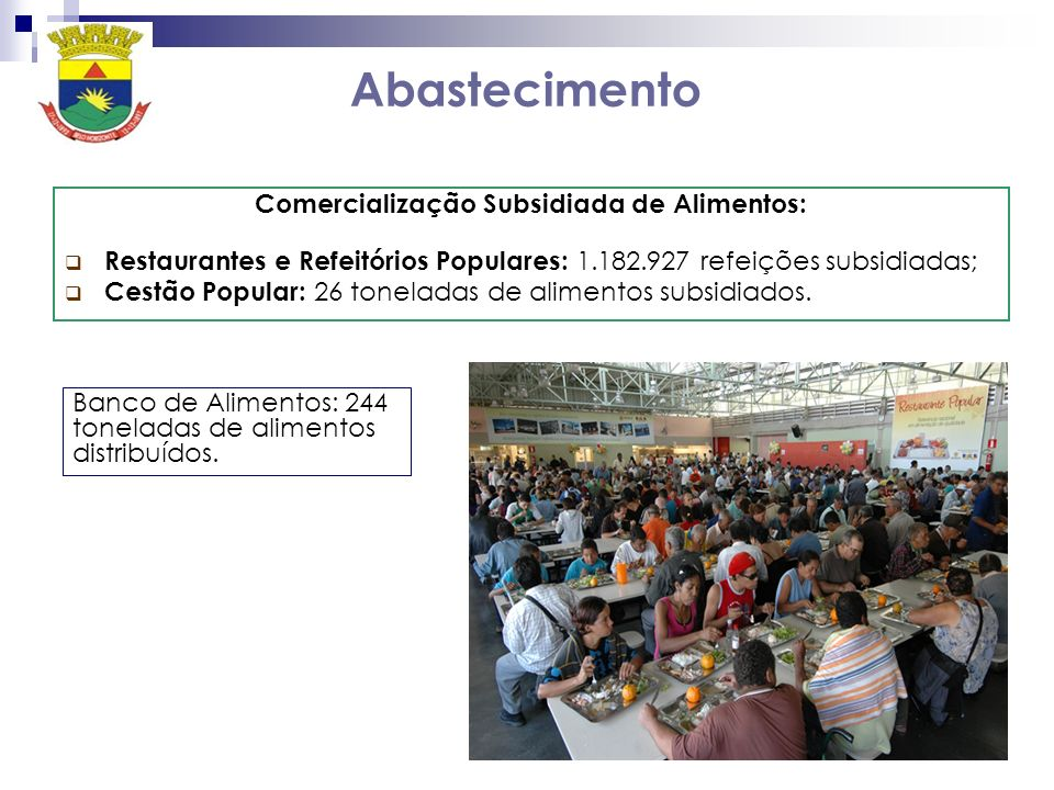 Comercialização Subsidiada de Alimentos: