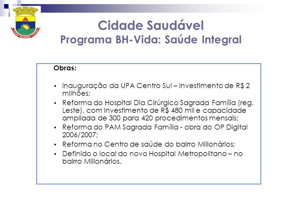 Cidade Saudável Programa BH-Vida: Saúde Integral