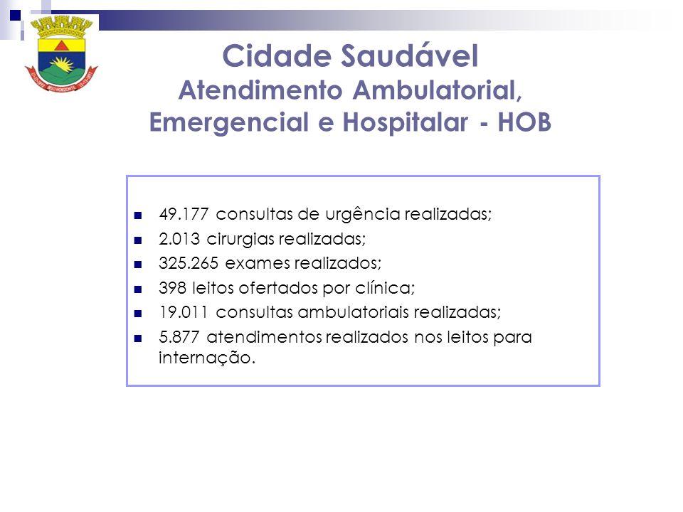 Cidade Saudável Atendimento Ambulatorial, Emergencial e Hospitalar - HOB