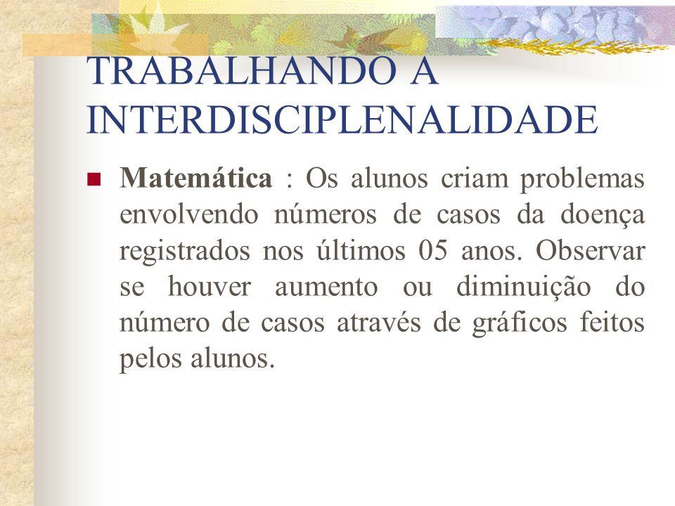 TRABALHANDO A INTERDISCIPLENALIDADE