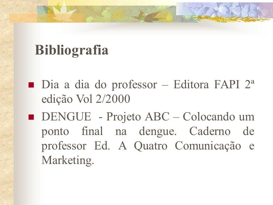 Bibliografia Dia a dia do professor – Editora FAPI 2ª edição Vol 2/2000.