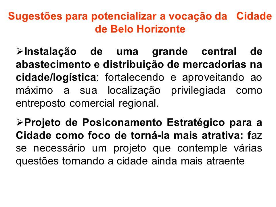 Sugestões para potencializar a vocação da Cidade de Belo Horizonte