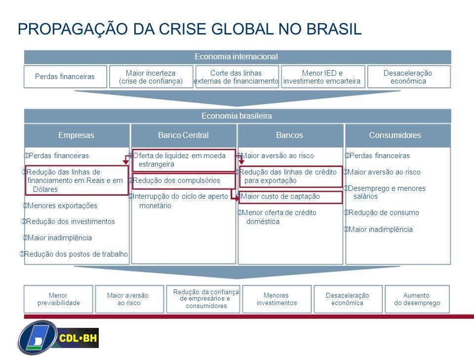 PROPAGAÇÃO DA CRISE GLOBAL NO BRASIL