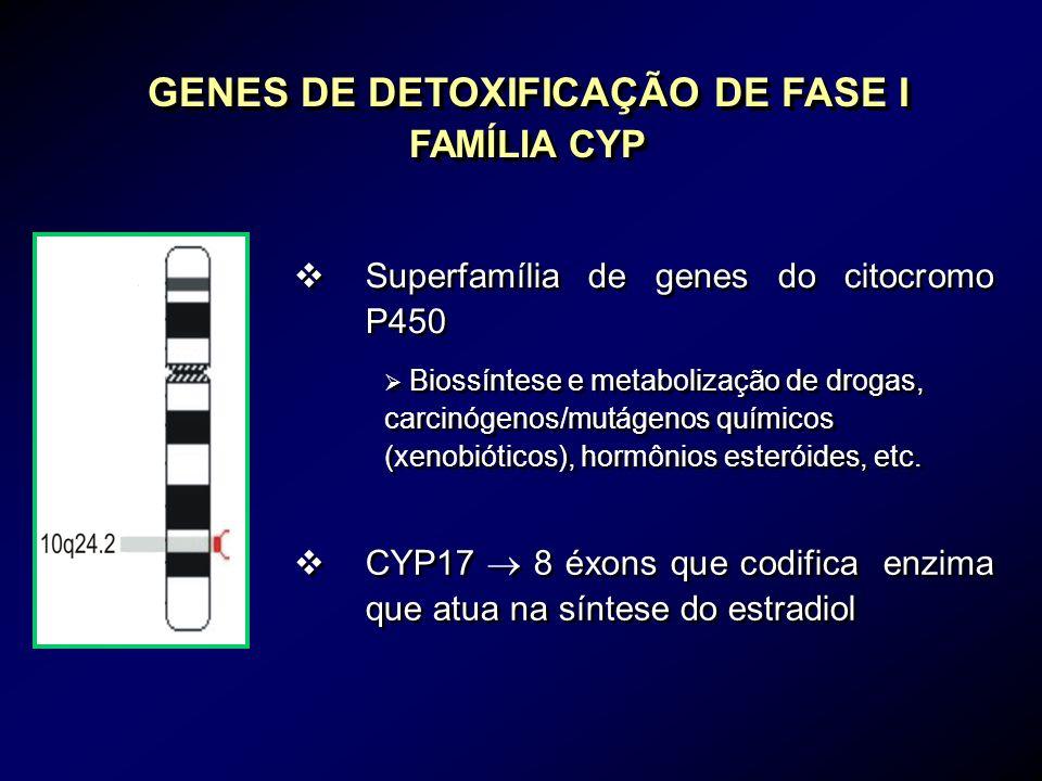 GENES DE DETOXIFICAÇÃO DE FASE I FAMÍLIA CYP