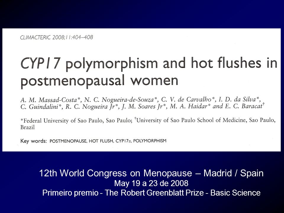 12th World Congress on Menopause – Madrid / Spain