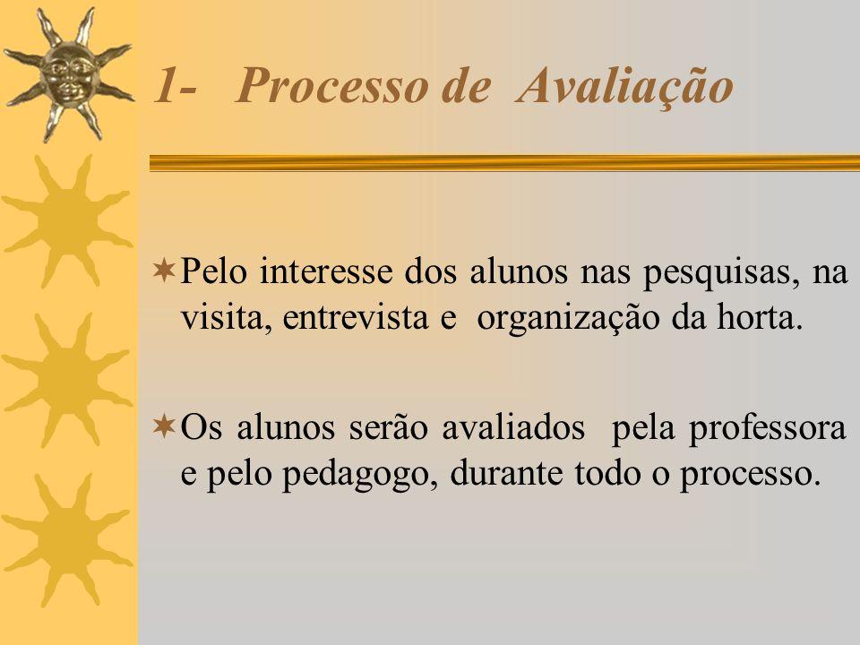1- Processo de Avaliação