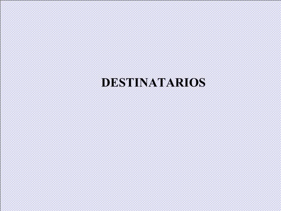 DESTINATARIOS