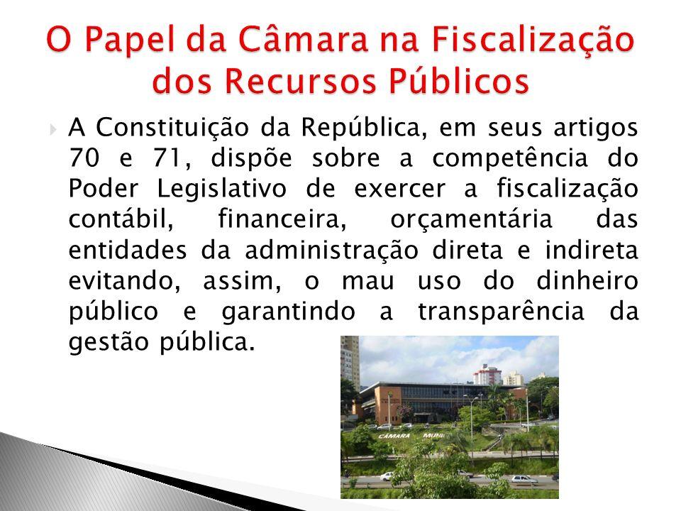 O Papel da Câmara na Fiscalização dos Recursos Públicos