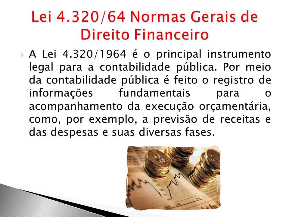 Lei 4.320/64 Normas Gerais de Direito Financeiro