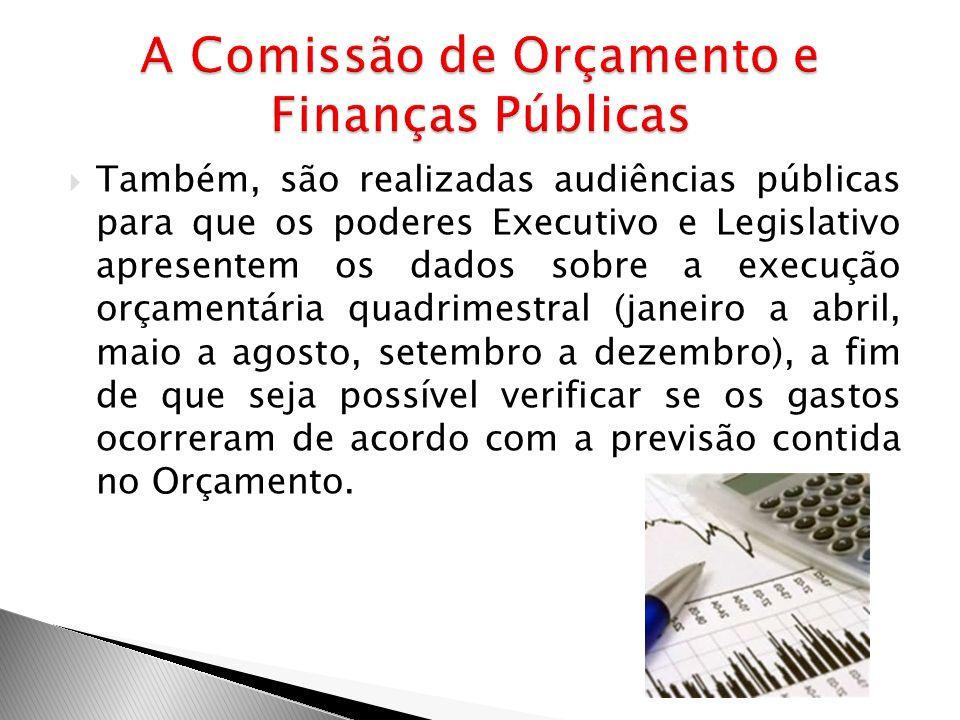 A Comissão de Orçamento e Finanças Públicas