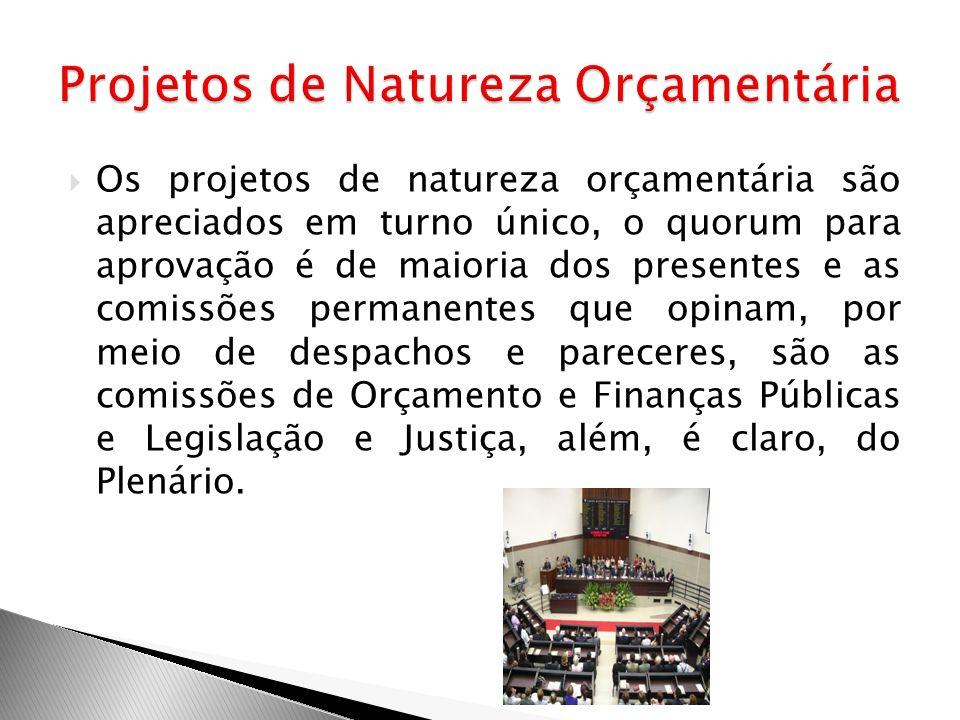 Projetos de Natureza Orçamentária