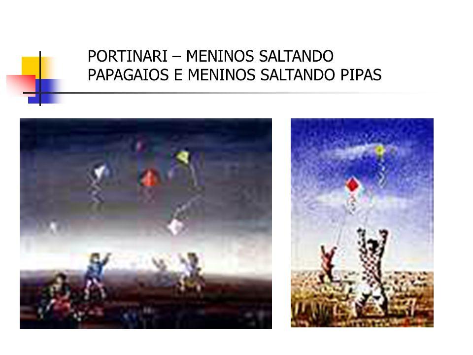PORTINARI – MENINOS SALTANDO PAPAGAIOS E MENINOS SALTANDO PIPAS