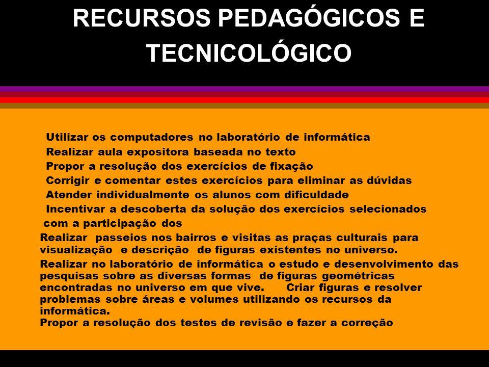 RECURSOS PEDAGÓGICOS E
