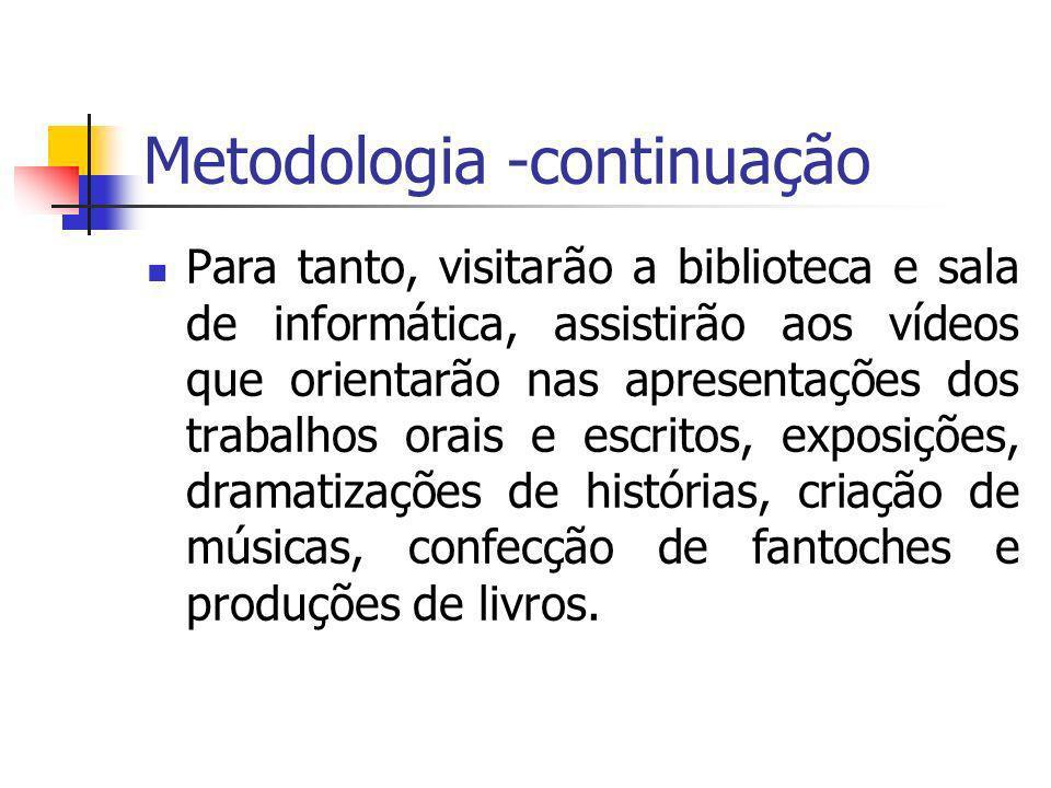 Metodologia -continuação
