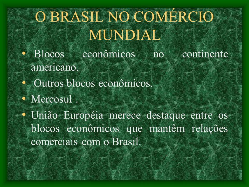 O BRASIL NO COMÉRCIO MUNDIAL
