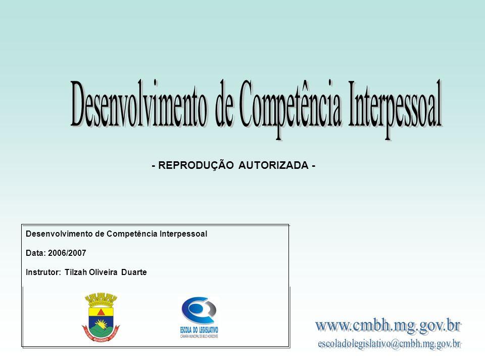 Desenvolvimento de Competência Interpessoal