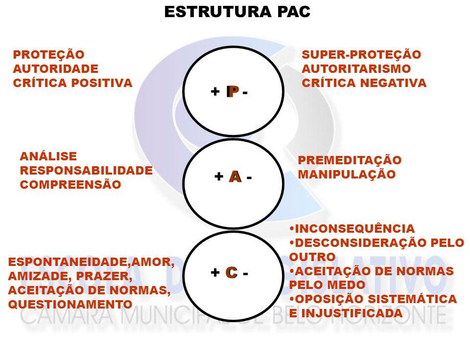 ESTRUTURA PAC P + P - P A + A - A C + C - C PROTEÇÃO AUTORIDADE
