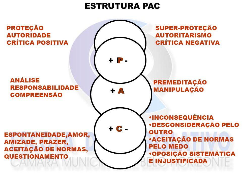ESTRUTURA PAC P + P - P + P - A + A A C + C - C + C - PROTEÇÃO