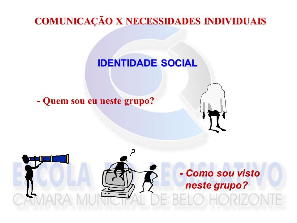 COMUNICAÇÃO X NECESSIDADES INDIVIDUAIS