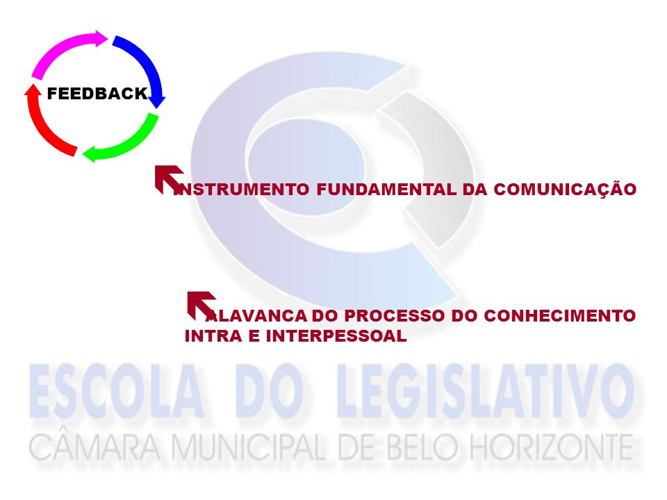 FEEDBACKINSTRUMENTO FUNDAMENTAL DA COMUNICAÇÃO.ALAVANCA DO PROCESSO DO CONHECIMENTO.