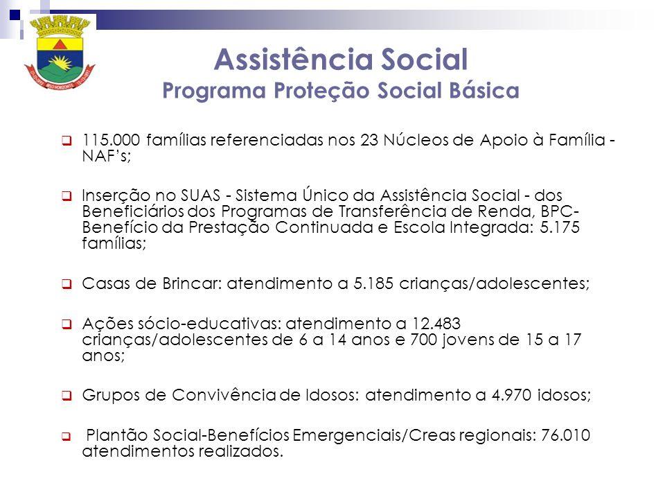 Assistência Social Programa Proteção Social Básica
