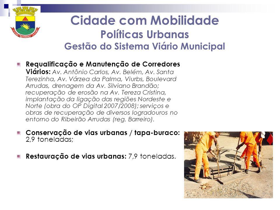 Cidade com Mobilidade Políticas Urbanas Gestão do Sistema Viário Municipal