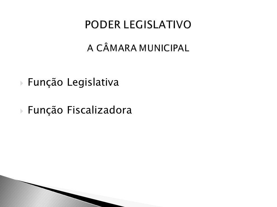 PODER LEGISLATIVO A CÂMARA MUNICIPAL