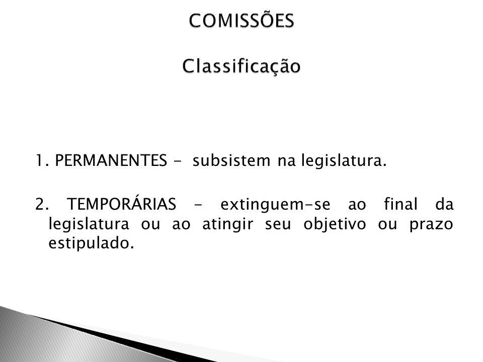 COMISSÕES Classificação