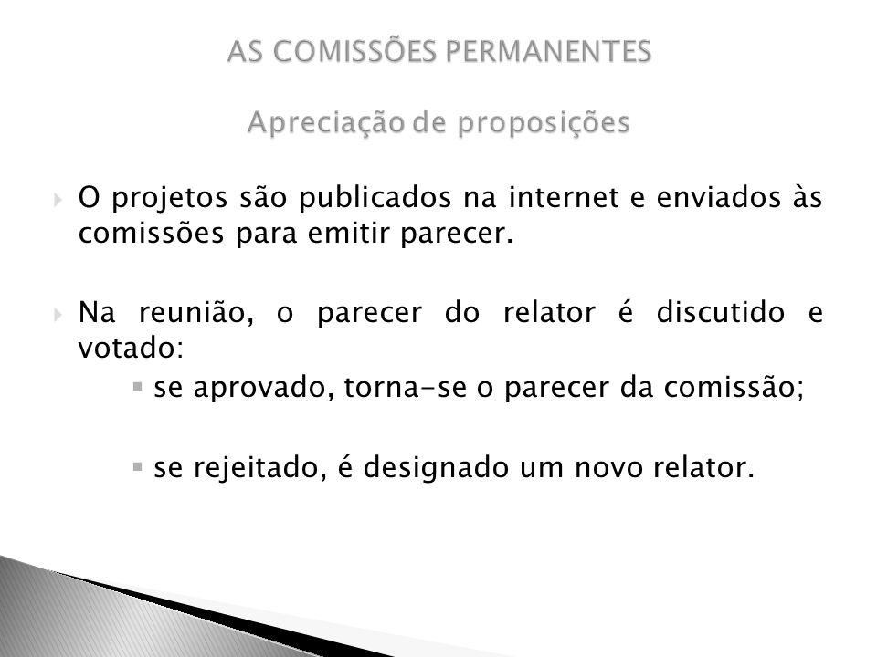 AS COMISSÕES PERMANENTES Apreciação de proposições