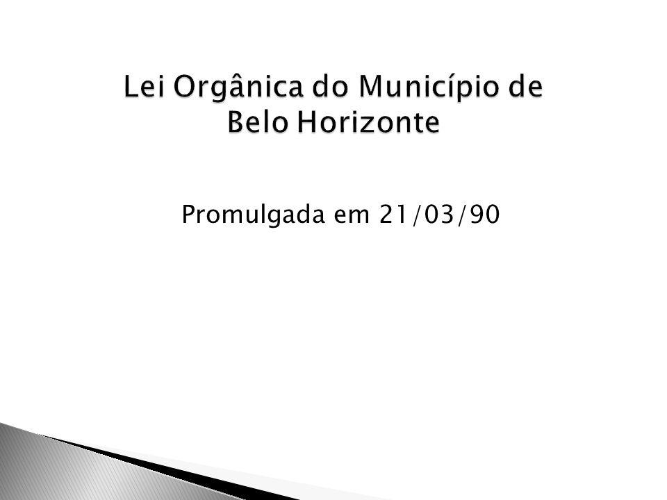 Lei Orgânica do Município de Belo Horizonte