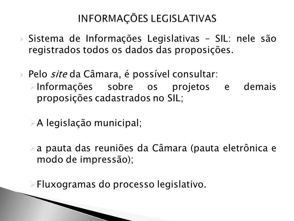 INFORMAÇÕES LEGISLATIVAS