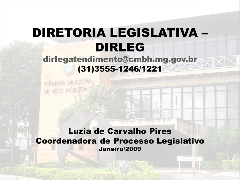 Luzia de Carvalho Pires Coordenadora de Processo Legislativo