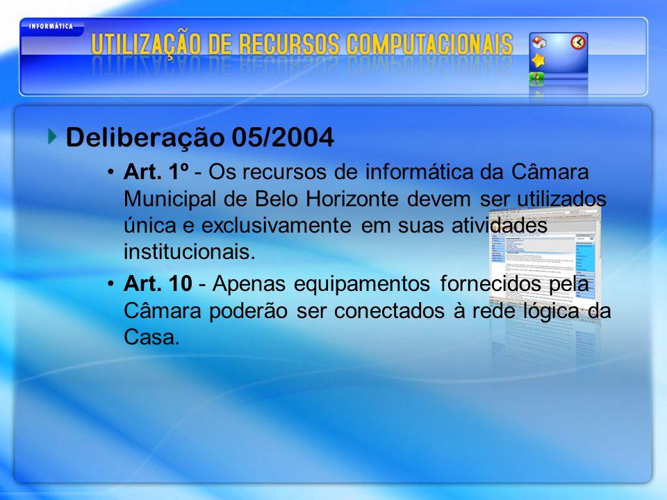 Deliberação 05/2004