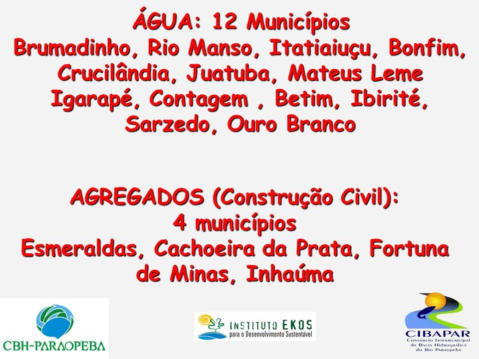 AGREGADOS (Construção Civil): 4 municípios