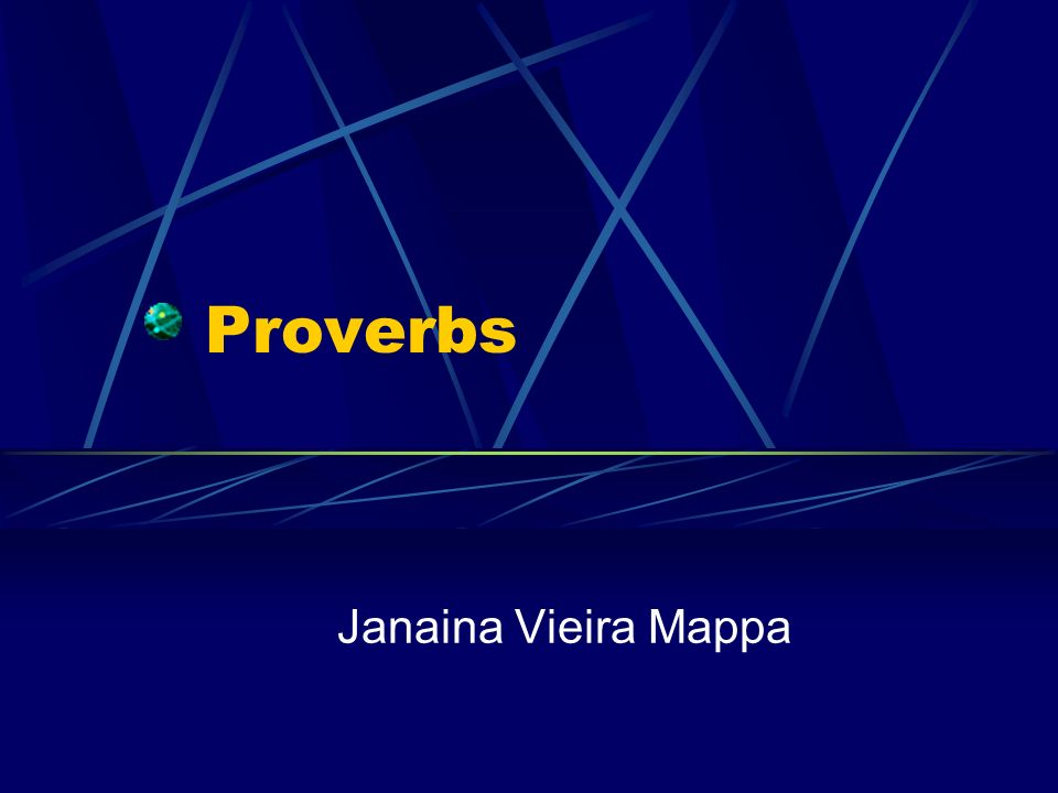 Proverbs Janaina Vieira Mappa