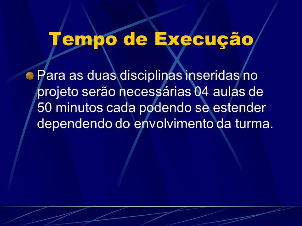 Tempo de Execução