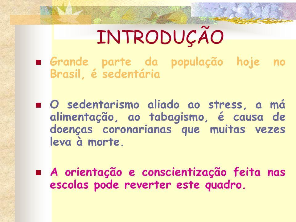 INTRODUÇÃO Grande parte da população hoje no Brasil, é sedentária