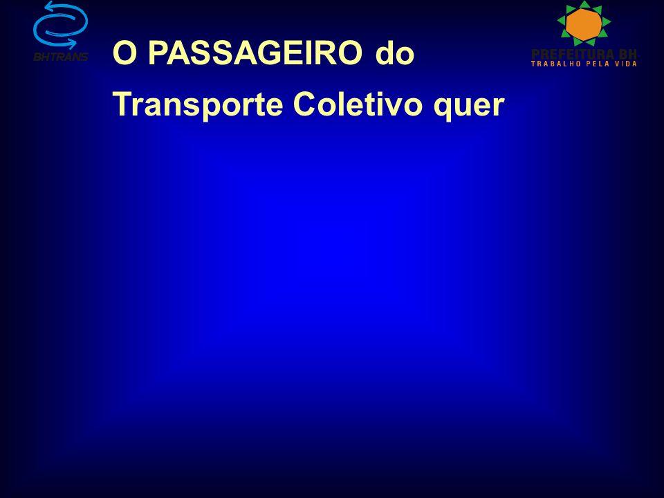 O PASSAGEIRO do Transporte Coletivo quer