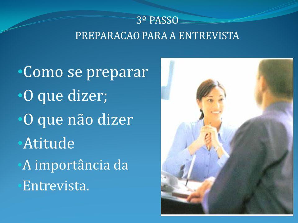 PREPARACAO PARA A ENTREVISTA