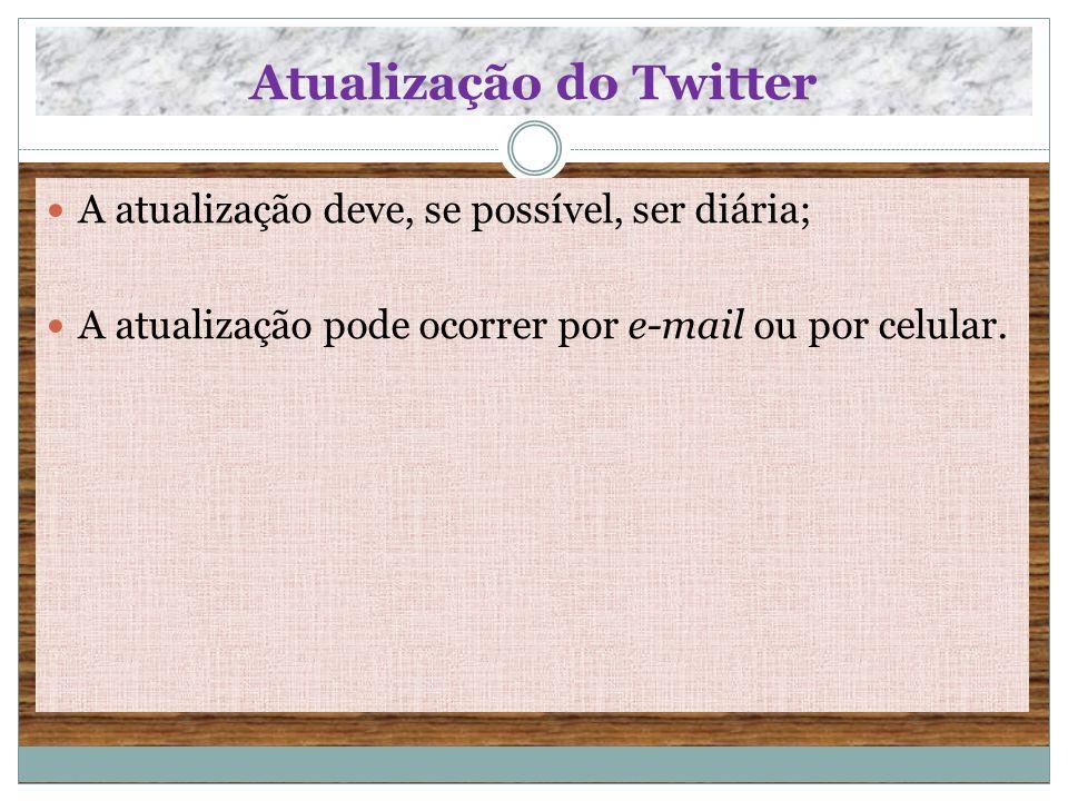 Atualização do Twitter