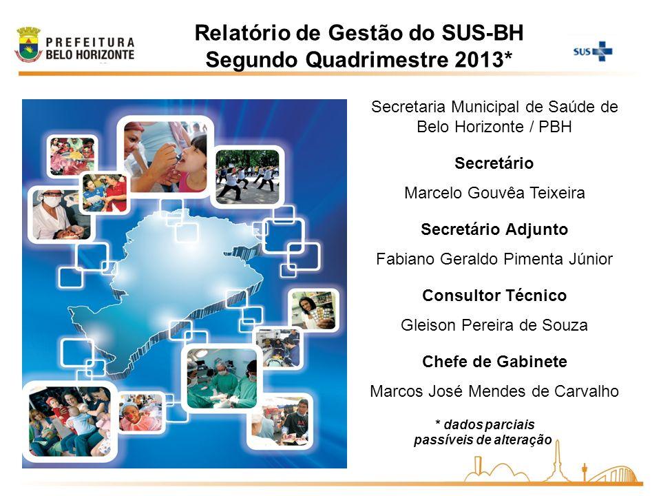 2011 Relatório de Gestão do SUS-BH Segundo Quadrimestre 2013*