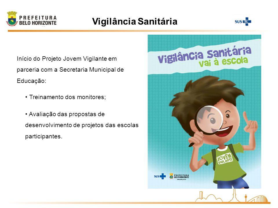 Vigilância SanitáriaInício do Projeto Jovem Vigilante em parceria com a Secretaria Municipal de Educação: