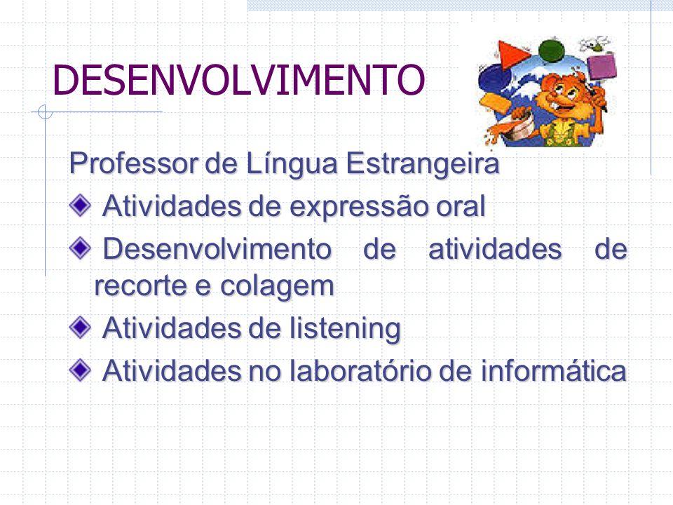DESENVOLVIMENTO Professor de Língua Estrangeira