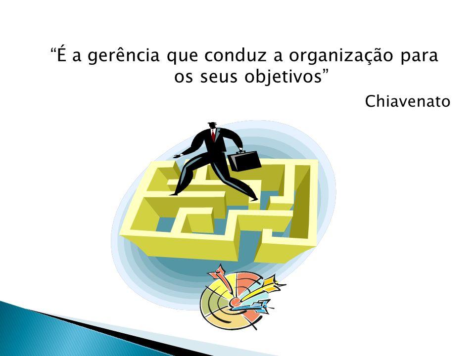 É a gerência que conduz a organização para os seus objetivos