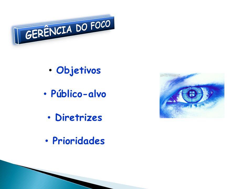 GERÊNCIA DO FOCO Objetivos Público-alvo Diretrizes Prioridades