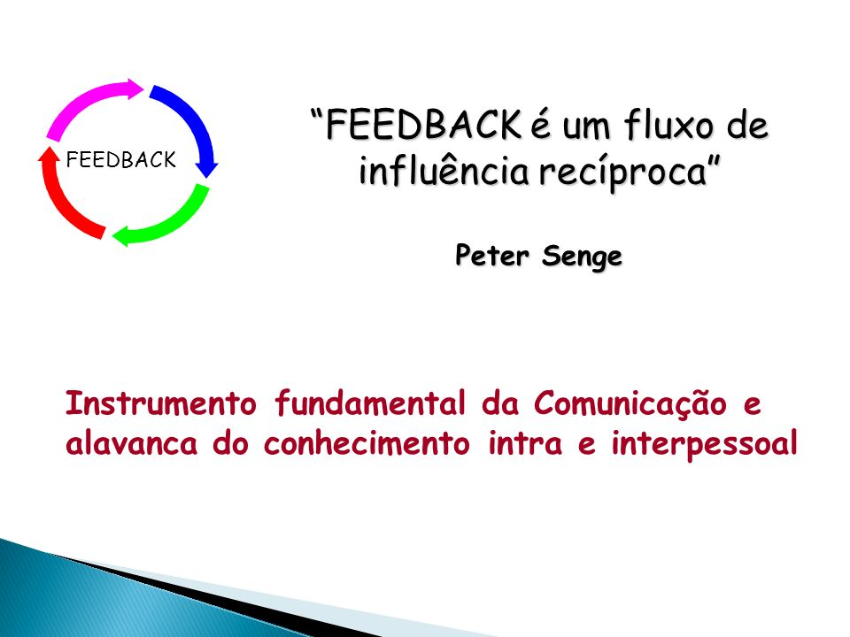 FEEDBACK é um fluxo de influência recíproca