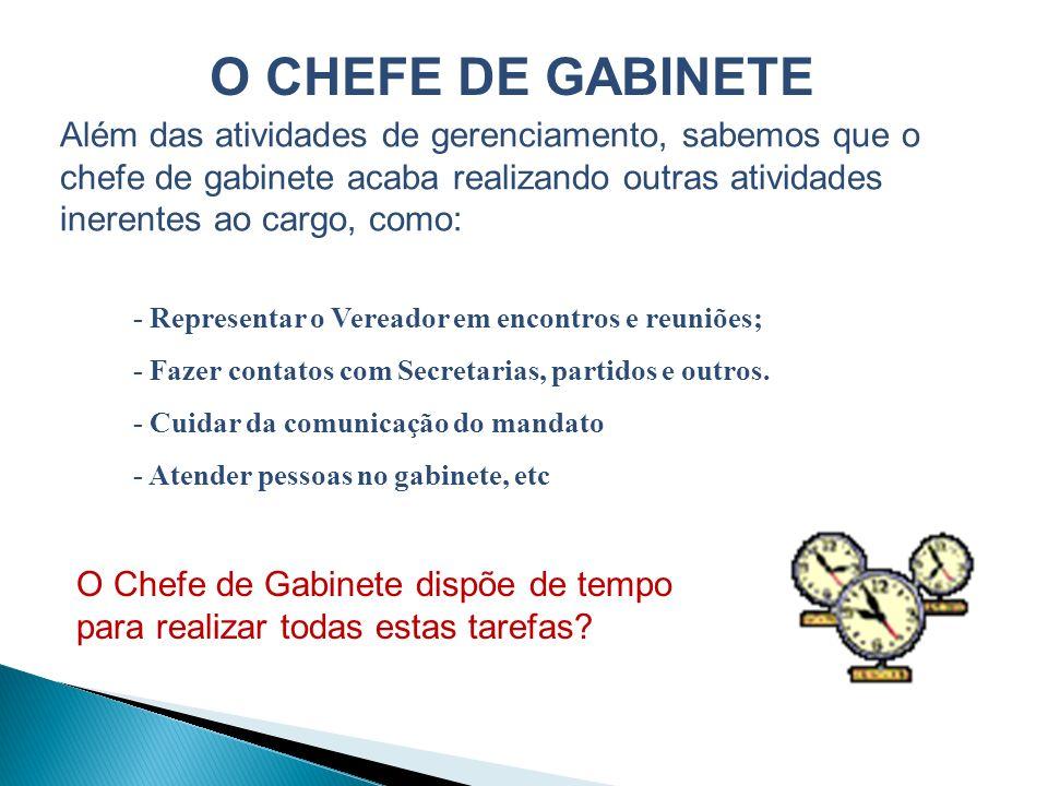 O CHEFE DE GABINETE