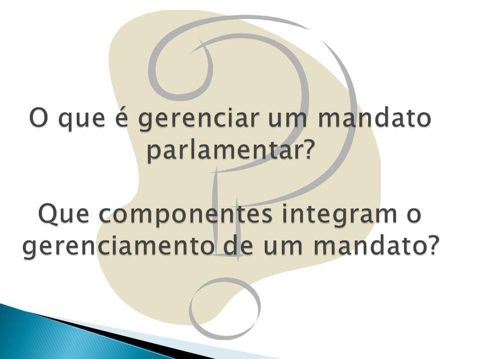 O que é gerenciar um mandato parlamentar
